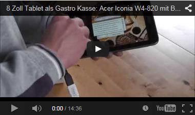 Bistro-Cash Gastronomie Kassensystem Tablet